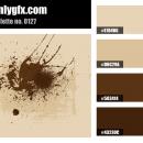 Vintage Light Brown Dark Brown Color Palette
