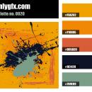 Vintage Orange Dark Blue Color Palette
