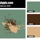 Vintage Turquoise Brown Color Palette