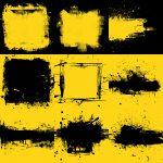 Yellow Black Grunge Background (JPG)