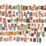 142 Retro Magazine Cutout Letters (PNG Transparent)