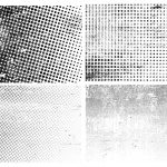 Grunge Halftone Texture Overlay (PNG Transparent)