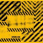 Grunge Warning Line Background (PNG Transparent)