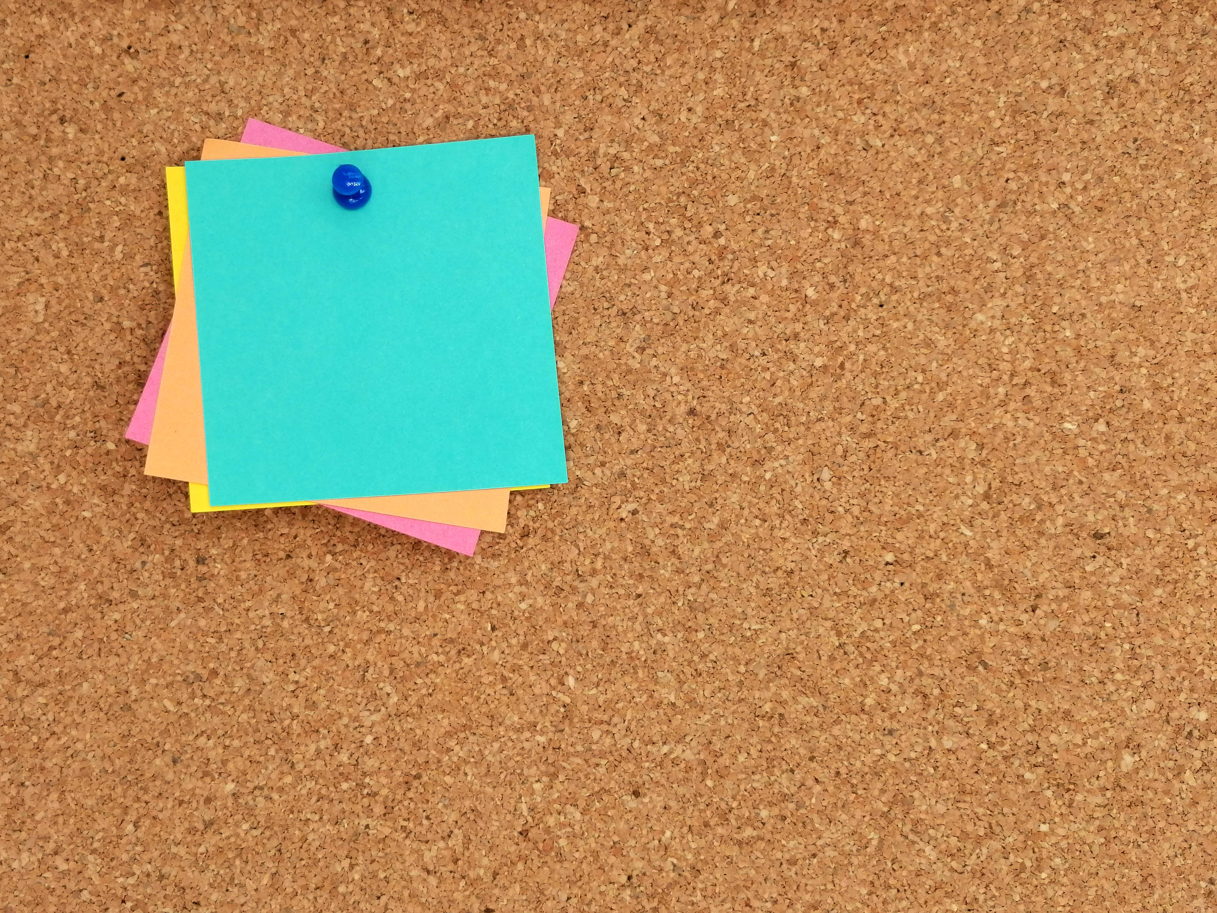 Post-It Note And Push Pin Stock Photos - Image: 1149353