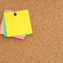 Blank Post-It Note on Pin Board (JPG)