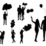 People With Balloon Silhouette (PNG Transparent)