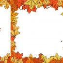 Autumn Leaf Frame Border (PNG Transparent)
