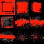 Black Red Grunge Background (JPG)