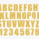 Gold Glitter Alphabet (PNG Transparent)