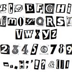 Magazine Cutout Font (TTF)
