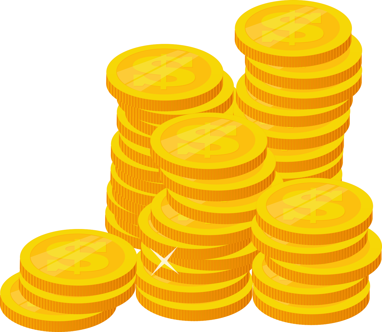 Stack of Gold Coins (PNG Transparent) | OnlyGFX.com