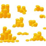 Stack of Gold Coins (PNG Transparent)