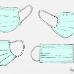 Surgical Mask Drawing Vector (EPS, SVG, PNG Transparent)