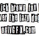 Newspaper Cutout Font White on Black (TTF)