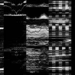 Black and White Glitch Effect Background (JPG)