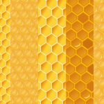 Honeycomb Pattern Background (PNG)