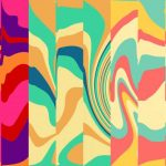 Psychedelic Groovy Background in Vivid Colors (JPG)