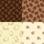 Coffee Pattern Background (PNG)