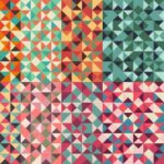 Geometric Triangle Retro Pattern Background (PNG Transparent)