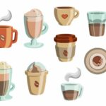 Coffee Cup Set Icons (PNG Transparent)