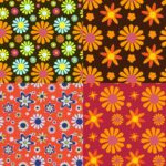 Groovy Flower Pattern Background (JPG)