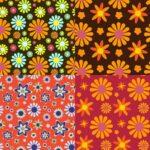 Groovy Flower Pattern Background (JPG)