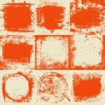 Orange Cream White Vintage Grunge Background (JPG)