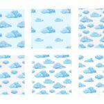 Watercolor Cloud Pattern Background (JPG)