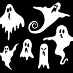 Halloween Ghost Silhouette (PNG Transparent)