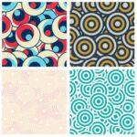 Circular Retro Pattern Background (JPG)