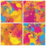 Colorful Splatter Background (JPG)