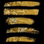 Gold Grunge Brush Stroke (PNG Transparent)