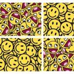 Smiley Face Emoticon Background (JPG)