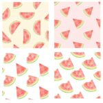 Watercolor Watermelon Pattern Background (JPG)