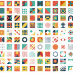 120 Geometric Elements for Modern Abstract Art (SVG, EPS)