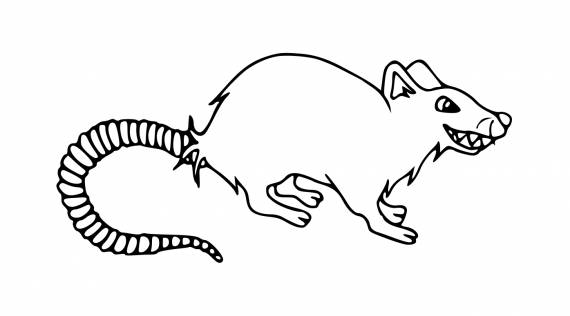 Angry Mouse Drawing PNG Transparent SVG Vector