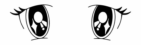 Anime Cute Eyes PNG Transparent SVG Vector