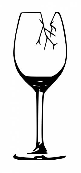 Broken Wine Glass PNG Transparent SVG Vector