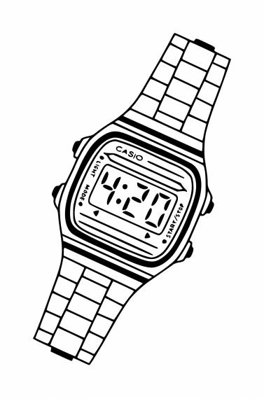 Casio Watch PNG Transparent SVG Vector