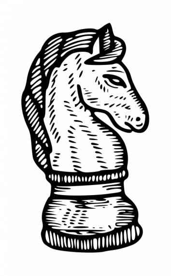 Dark Knight Chess Drawing PNG Transparent SVG Vector