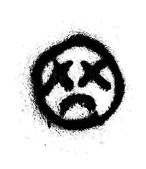 Dead Smiley Face Graffiti PNG Transparent SVG Vector