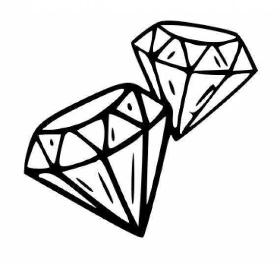 Diamonds PNG Transparent SVG Vector