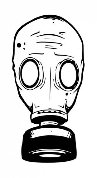 Gas Mask PNG Transparent SVG Vector