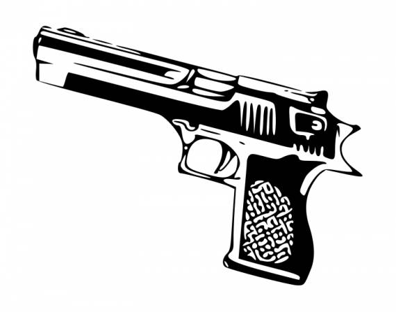 Hand Gun PNG Transparent SVG Vector