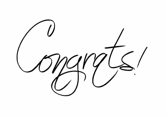Handwritten Congrats PNG Transparent SVG Vector
