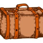 Luggage Drawing PNG Transparent