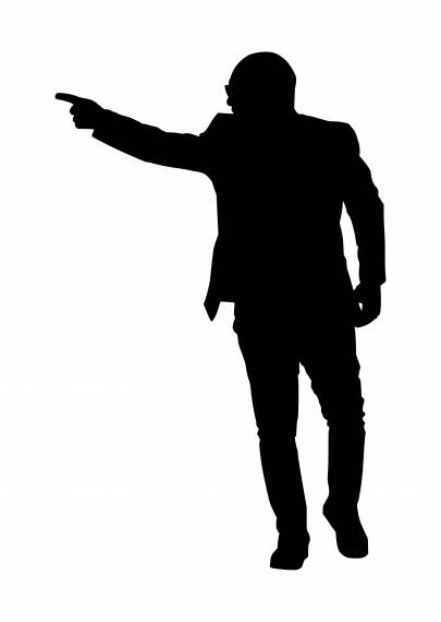 Man Pointing Finger Silhouette PNG Transparent SVG Vector