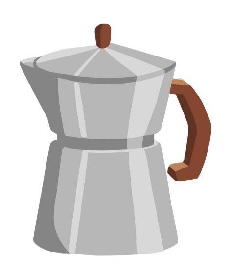 Moka Coffee Maker Clipart PNG Transparent