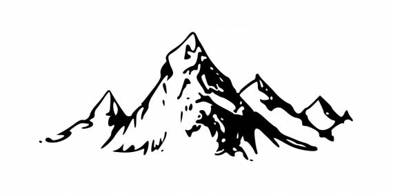 Mountain Drawing Tattoo PNG Transparent SVG Vector