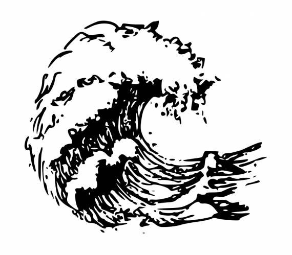 Ocean Wave Drawing Tattoo PNG Transparent SVG Vector